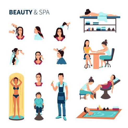 Beauty-Salon-Spa-Set vektor