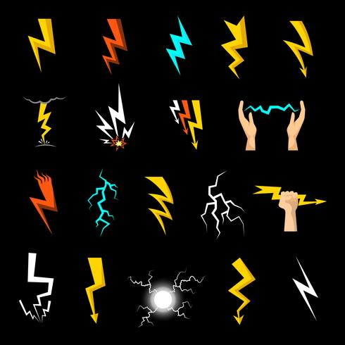 Blitz-Icons Set vektor
