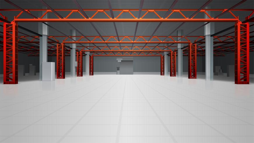 Warehouse Interior Realistic Background vektor