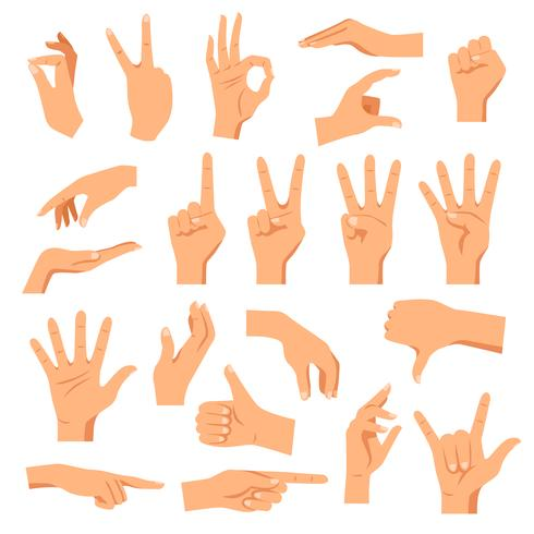 Set Hände vektor