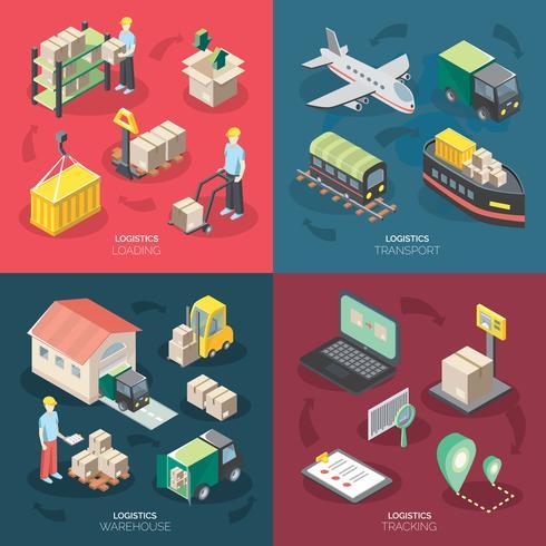 Logistik-Konzept Icons Set vektor