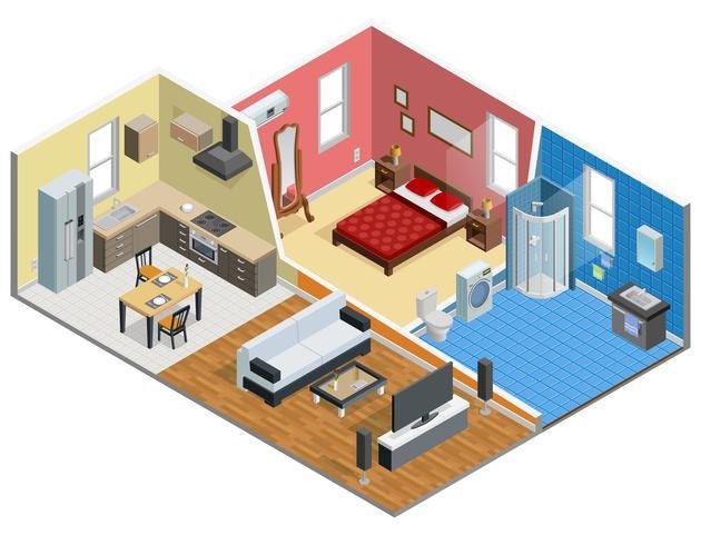 Apartment isometrisches Design vektor