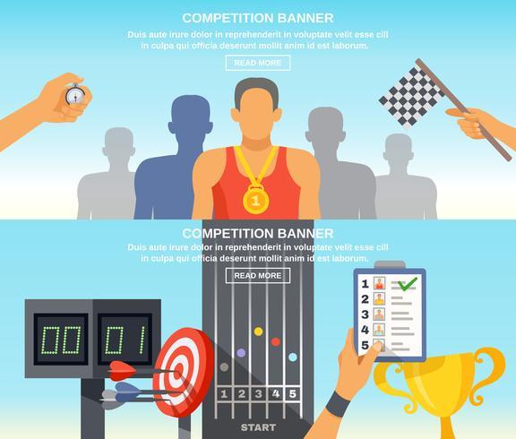 Sport Herausforderung horizontale Banner vektor