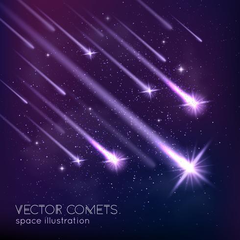 Meteorschauer Hintergrund vektor