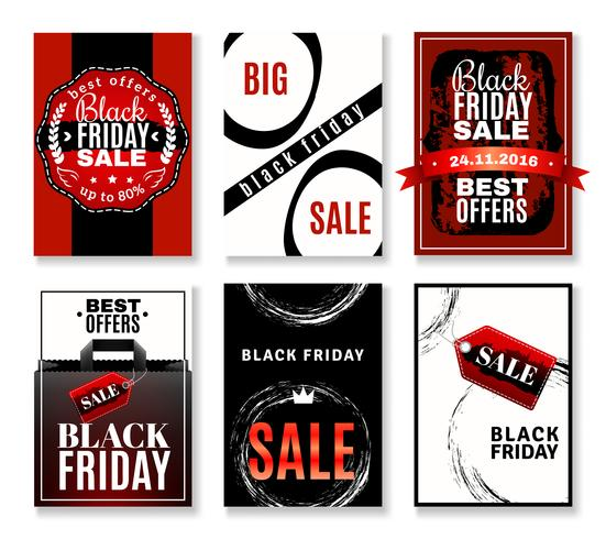Svart Friday Sale Flyers Collection vektor