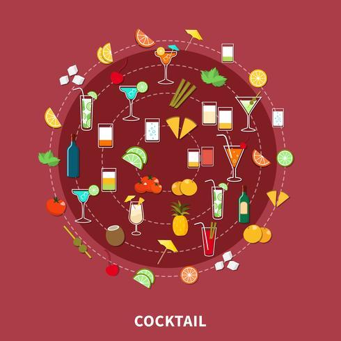 cocktail ikonuppsättning vektor