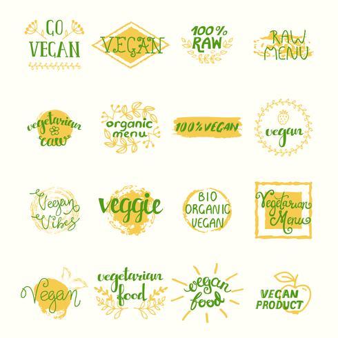 Vegane Retro Elements Set vektor