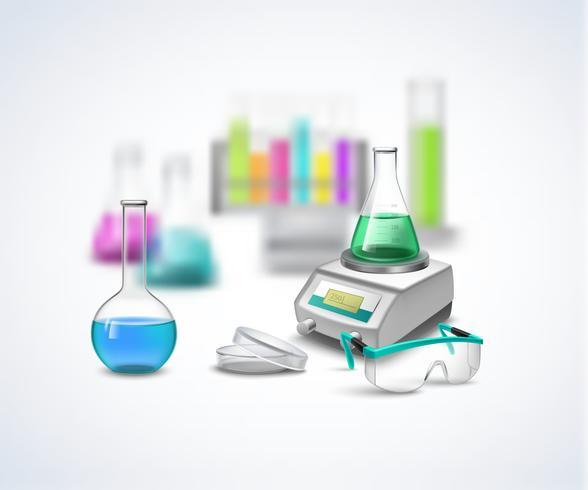 Zusammensetzung der chemischen Ausrüstung vektor