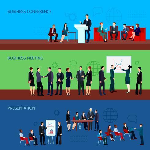 Konferens Horisontella Banderoller vektor
