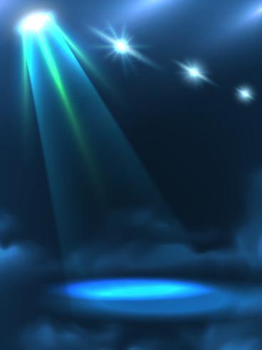 Lichtstrahl-Hintergrund-Fahne des blauen Grüns vektor