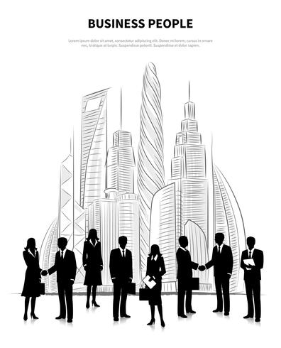 Geschäftsleute Konzept vektor
