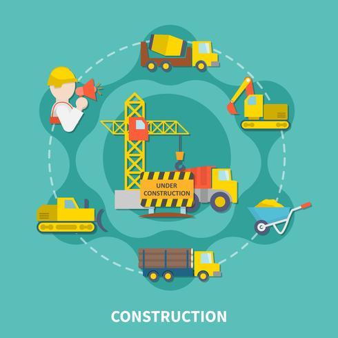 Byggnadskonstruktion Plattform vektor