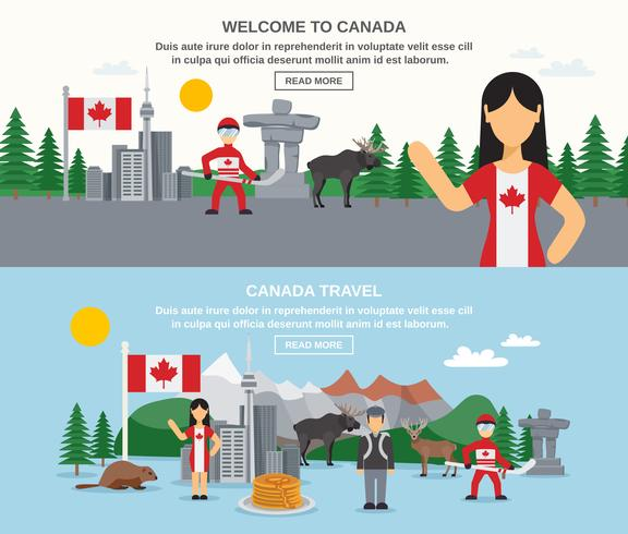 Willkommen bei den Kanada-Bannern vektor