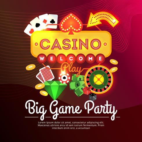 Välkommen Casino Poster vektor