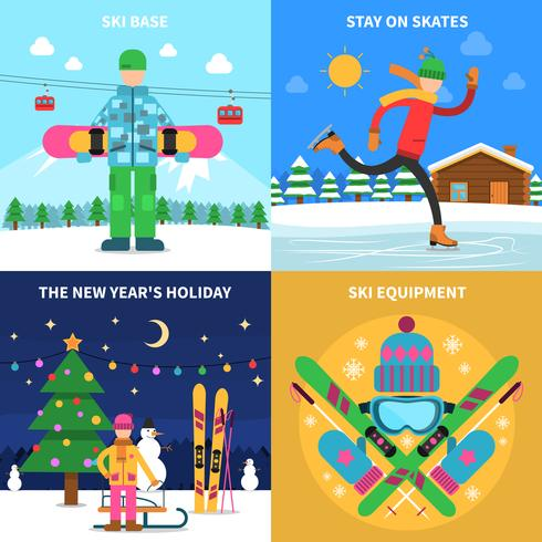 Vinter sport koncept vektor