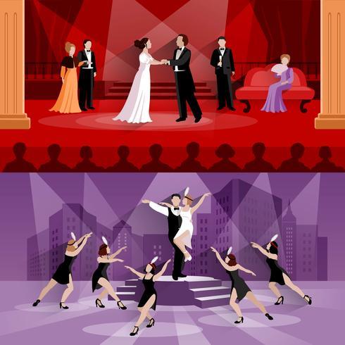 Kompositioner av teaterfolk vektor