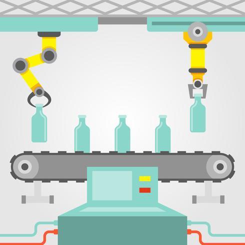 Robotarmkoncept vektor