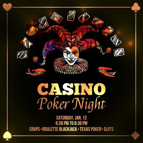 Joker Poker Illustration vektor