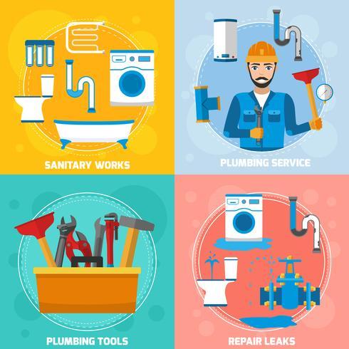 Sanitärtekniker Designkoncept vektor