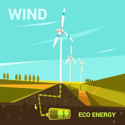 Ökologische Energiekarikatur vektor
