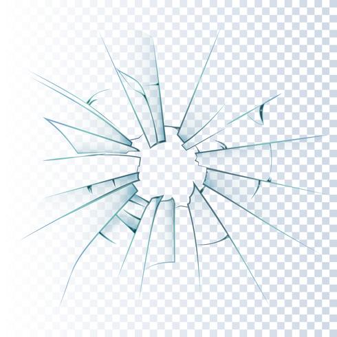 Broken Frosted Glass Realistic Icon vektor