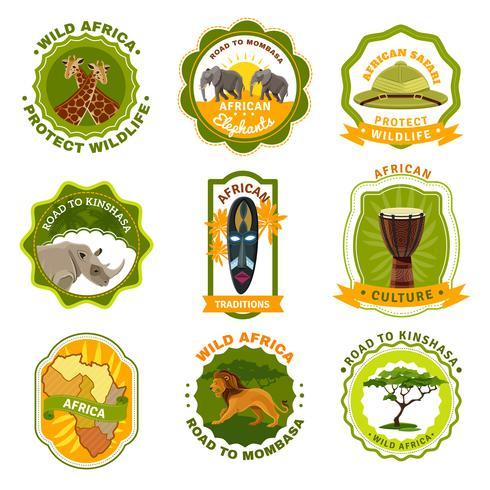 Afrika Emblem Set vektor