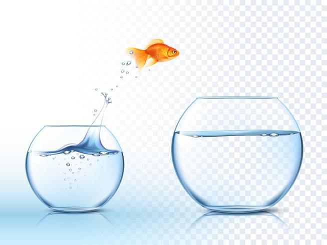 Gyllene hoppar ut vattenskålpirurgi vektor