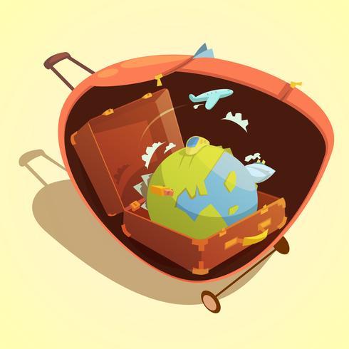Reise-Cartoon-Konzept vektor