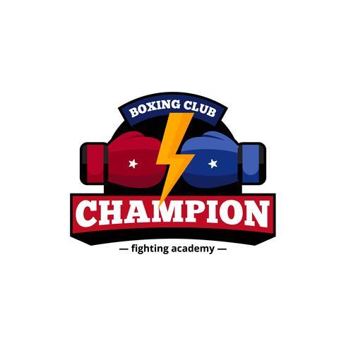 Boxing Club Logo Design flache Ikone vektor