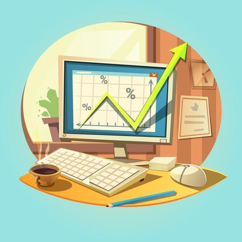 Retro Geschäftskarikatur vektor