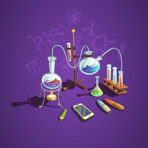 Wissenschaftskonzept der Chemie vektor
