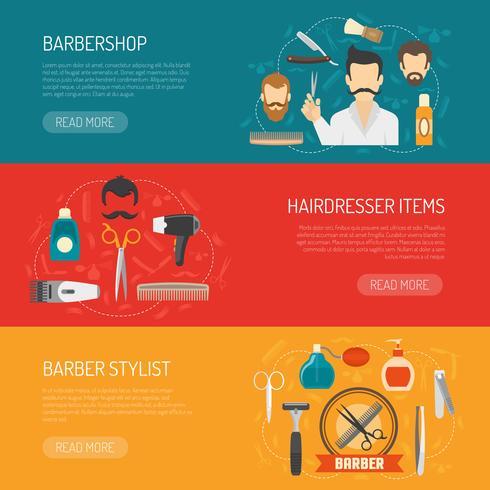 Barber horizontale Banner vektor