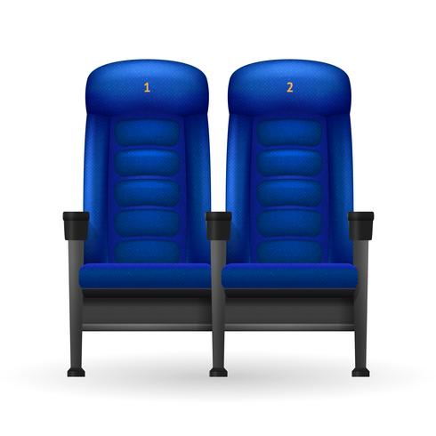 Blue Cinema Seats Illustration vektor