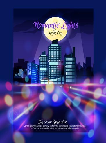 city nightscape affisch vektor
