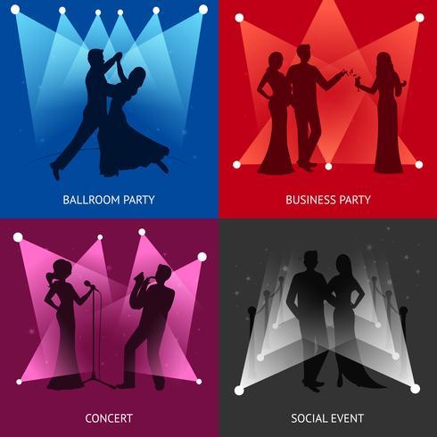 Party-Design-Konzept vektor