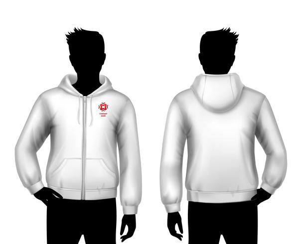 Hooded Sweatshirt mall vektor