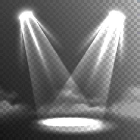 Zwei weiße Lichtstrahlen treffen Banner vektor