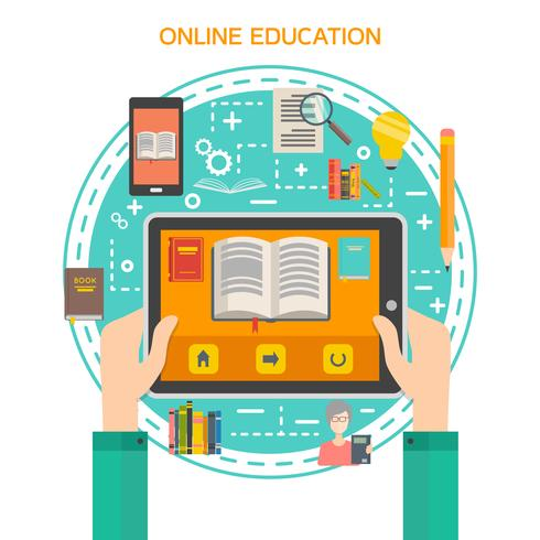 Online-Bibliothekskonzept vektor