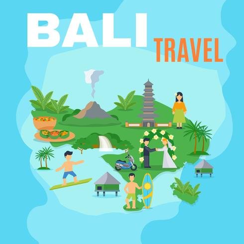 Hintergrundkarte Bali-Reise vektor