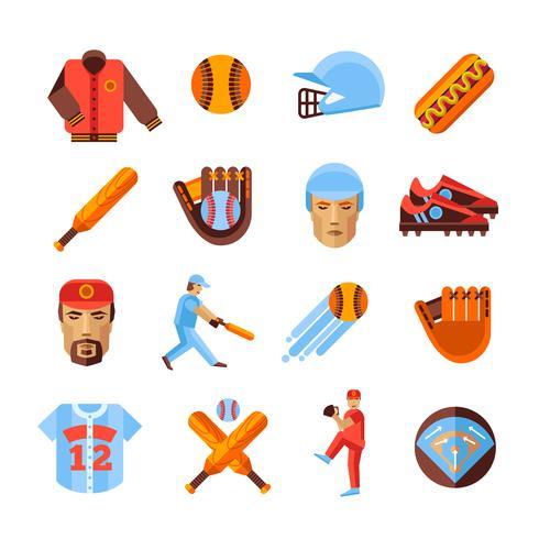 Baseball Icons Set vektor