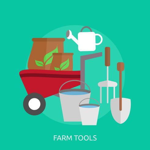 Farm Tools Konzeptionelle Darstellung Design vektor