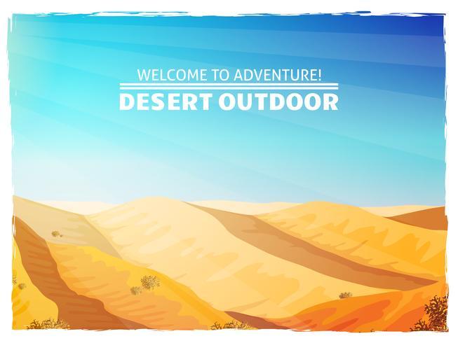Wüstenlandschaftshintergrund-Plakat vektor