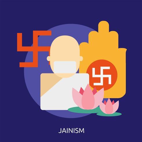 Jainism Konzeptionelle Darstellung vektor