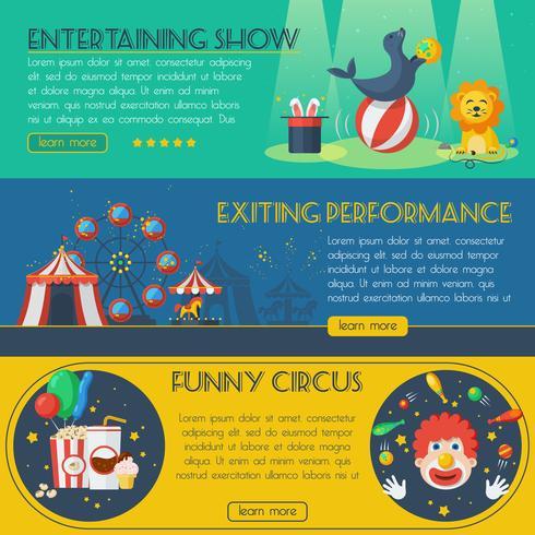 Zirkusfahnensatz vektor