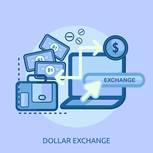 Bitcoin Exchange konzeptionelle Darstellung Design vektor