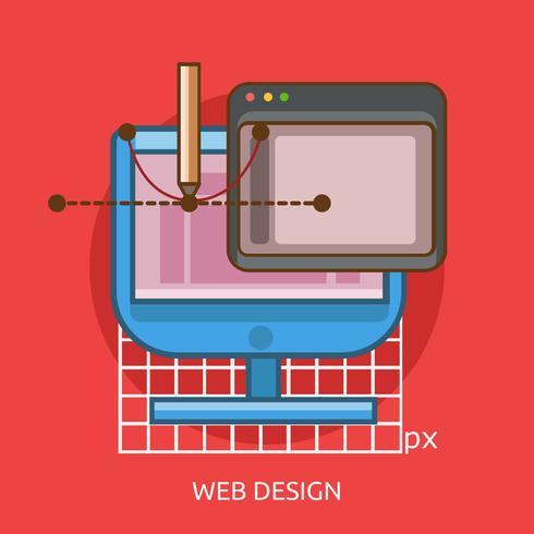 Webdesign konzeptionelle Illustration Design vektor