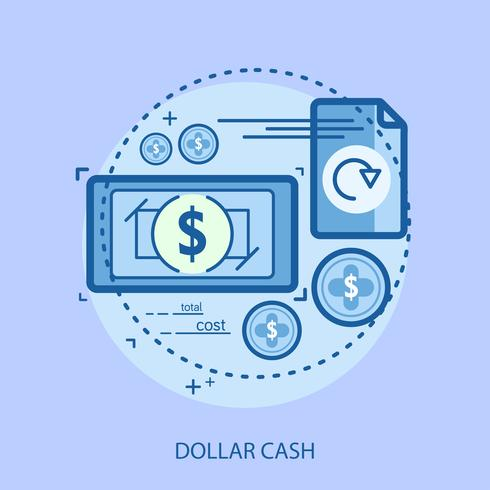 Dollar Bargeld konzeptionelle Abbildung Design vektor