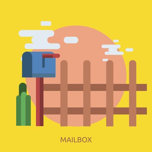 Mailbox Konceptuell illustration Design vektor
