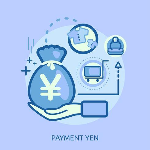 Zahlungs-Dollar-Begriffsillustration Design vektor