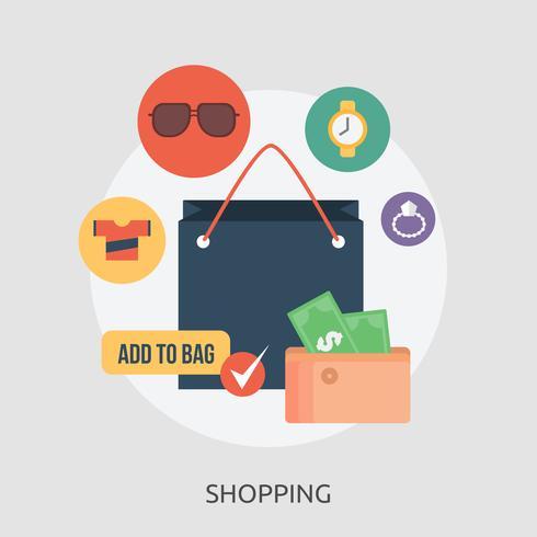 Einkaufen konzeptionelle Illustration Design vektor